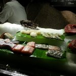 Dinner selections displayed on ice: order & return to your table
