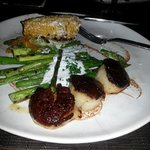 """My """"seared"""" sea scallops which were burned on outside & undercooked inside"""