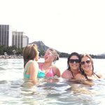 Enjoying Waikiki beach