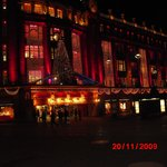 Christmas decoration on Galeries Lafayette