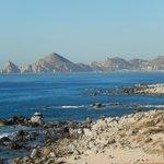 The advertised Golden Beach ... full of huge rocks