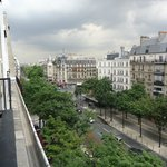 Early morning view of boulevard Raspail from our room
