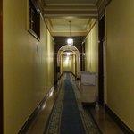 corredor central dos quartos