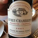 Gevrey-Chambertin 2007. A bit earlier to drink.