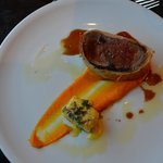 Beef Wellington at hotel restaurant