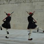 The quirky changing of the guard - Parliament Building, Athens