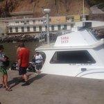 Saba Deep dive boat at the harbor