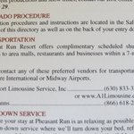 Shuttle Service Literature.