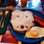 delicious breakfast, cute bear pancake