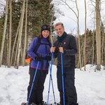 the happy snowshoers.