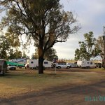 Camping grounds in the front of the park