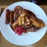 French toast and sausage