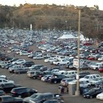 Parking lot after the game