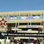 Entering the stadium