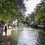Riverwalk behind hotel