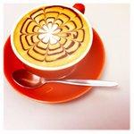 Coffee Art at Cafe La Vie