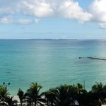 Partial view of the hotel and Isla Mujeres way at the horizon.