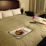 Returned to a room cleaned with last nights room service and laundry not picked up? 4 star, I th