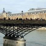 View of Pont des Arts crossing the River Seine