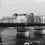 River Seine in black and white