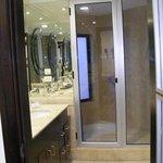 Huge shower and sink area