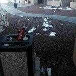 Trash at main entrance!