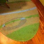 Fläckig och smutsig matta