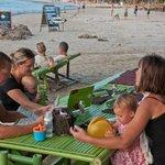 Our table on the beach