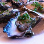 Oysters with cucumber chive vinaigrette