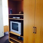 Each room has a TV and DVD