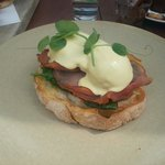 Eggs benedict. Lovely.
