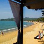 View from beach hut D3