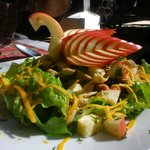 Fruit and green salad