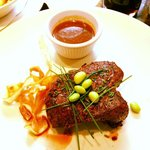 Fillet steak with sherry vinegar sauce