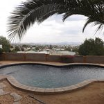 Pool and view over Windhoek