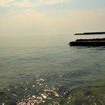 il mare davanti all'hotel