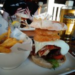 This burger is so great and it has everything you've ever dreamt of in a burger in it!