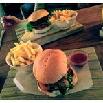 Lunch Club, FLT and BBQ pork sandwiches.