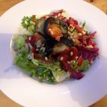 Aubergine stuffed with pine nuts with tomato sauce - nom