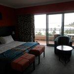 habitación, terraza y vistas