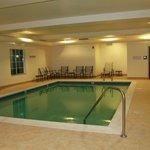 Hot water indoor pool