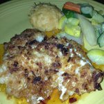 Onion crusted grouper