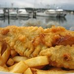 FRESHLY COOKED FISH WITH FRESH CUT  CHIPS