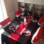 table ready for Christmas lunch