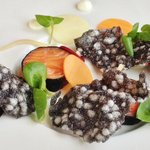 Cured Swinton Trout w/Pickled Vegetables Wasabi Mayonnaise & Sushi Nori