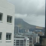 View of table mountain from our room.