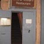 The front door to the restaurant