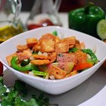 Mixed Vegetables topped wit Pita Croutons