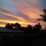 Sunset from Kitchen window