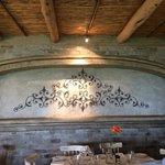 Decoração de uma das salas de refeições.